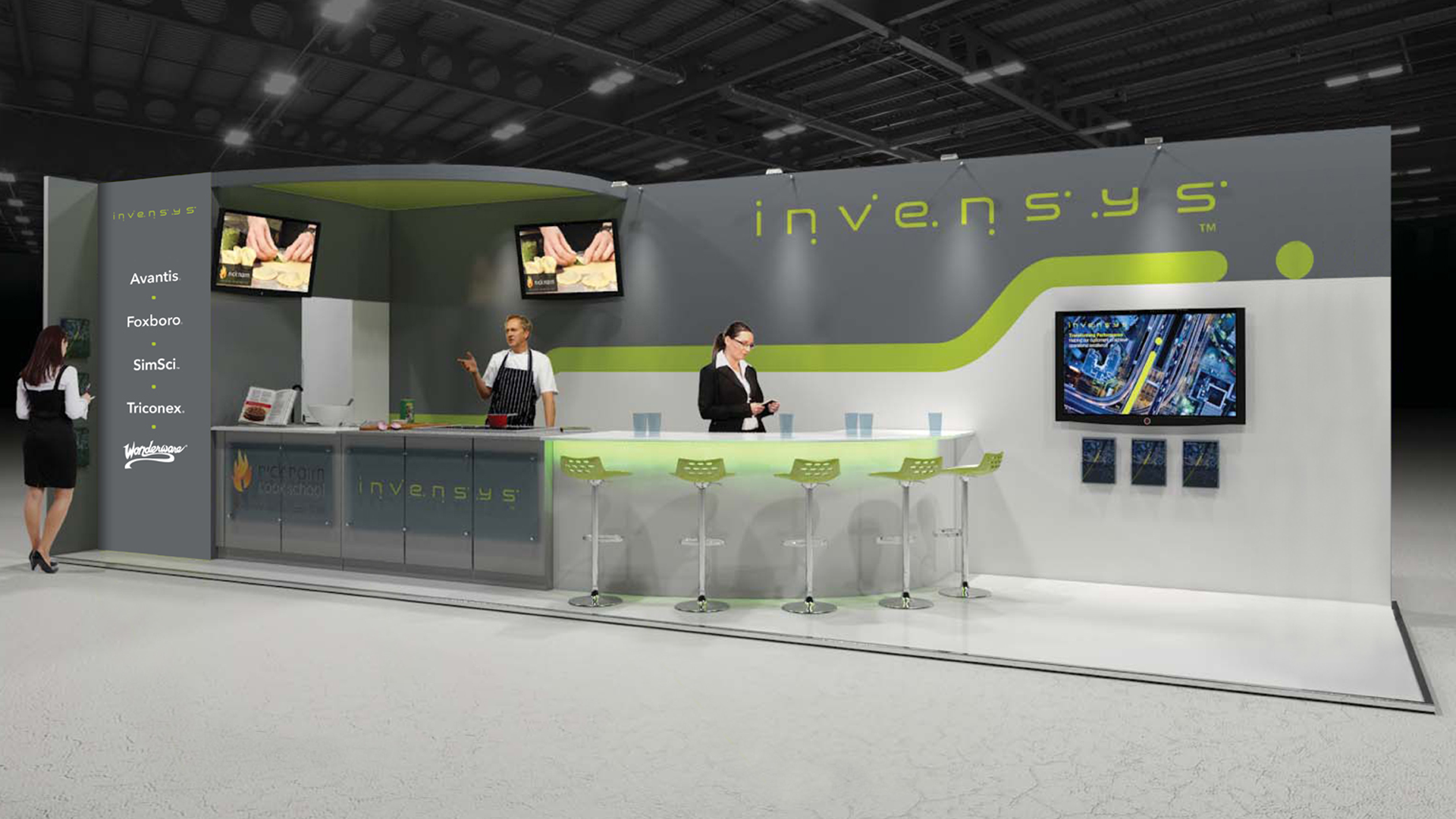 invensys exhibition stand