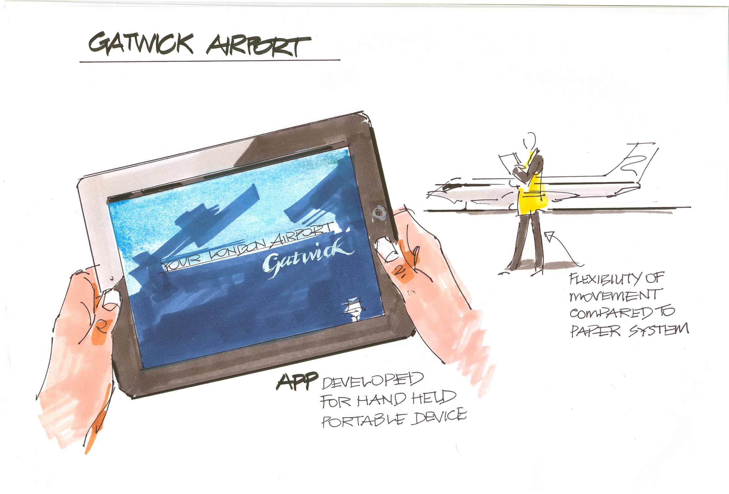 Gatwick-ipad visual